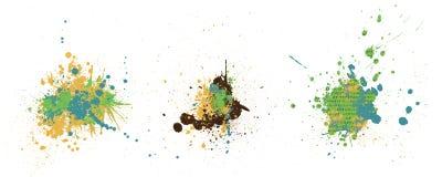 Färgrika färgstänk Royaltyfria Foton