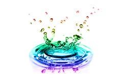 Färgrika färgstänk av vatten Royaltyfri Bild