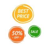 färgrika färgstänk Mest bra bända, Sale, 50% av Marcs Arkivfoto