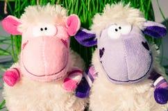 Färgrika fårplyschleksaker Royaltyfri Bild