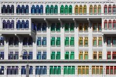 färgrika fönster Arkivfoto