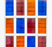 Färgrika fönster. Arkivfoto