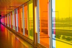 färgrika fönster Arkivfoton