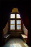 Färgrika fönster av slotten Royaltyfri Bild