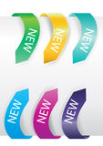 färgrika försäljningsetiketter för pil Arkivbilder