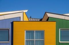 färgrika facades arkivbild
