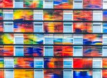 färgrika facades royaltyfri bild