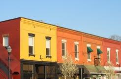 färgrika facades fotografering för bildbyråer