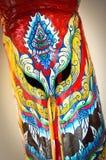 Färgrika Facemask som kallas 'Phi_Ta_Khon', Arkivbild