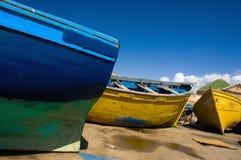 färgrika fartyg Fotografering för Bildbyråer
