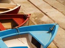 färgrika fartyg Arkivfoto