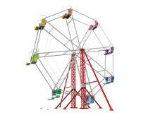 Färgrika Ferris Wheel royaltyfri illustrationer