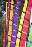 Färgrika festivalflaggor Royaltyfri Foto