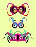 färgrika festliga maskeringar Arkivfoto