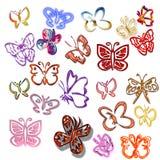 färgrika fjärilar vektor illustrationer