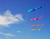 färgrika flaggor royaltyfri fotografi