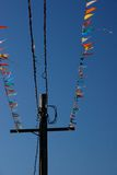 färgrika flaggor Royaltyfria Bilder