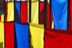färgrika flaggor Royaltyfri Foto