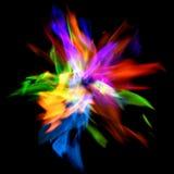 färgrika flammor Arkivfoto