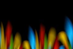 färgrika flammor Fotografering för Bildbyråer