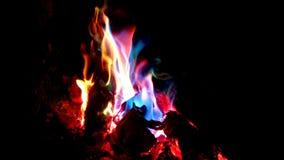 färgrika flammor Royaltyfria Foton