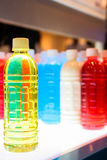 Färgrika flaskor Royaltyfria Bilder