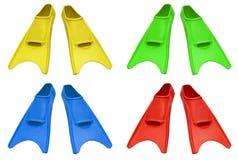 Färgrika flipper royaltyfria foton