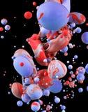 Färgrika flytande som blandar under vattenslut upp Royaltyfri Bild