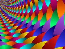 färgrika fractal39a-scales Royaltyfri Foto