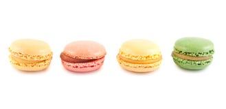 Färgrika franska macaroons royaltyfria bilder