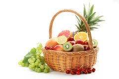 färgrika frukter Arkivfoton