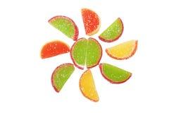 färgrika fruktgeléskivor Arkivfoto