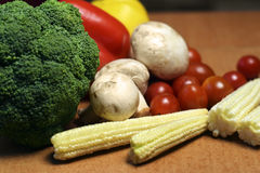 färgrika fruktgrönsaker Royaltyfri Bild