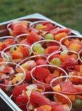 Färgrika fruktsallader Arkivbilder