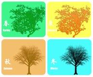 färgrika fyra säsonger för bakgrund Royaltyfri Foto
