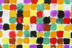 färgrika fyrkanter Royaltyfri Bild