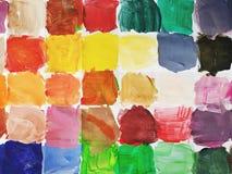 färgrika fyrkanter Royaltyfri Fotografi