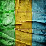 färgrika fyrkanter för abstrakt bakgrund Royaltyfri Fotografi