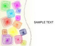 färgrika fyrkanter för bakgrund Stock Illustrationer