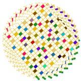 färgrika fyrkanter för cirkel Arkivfoto