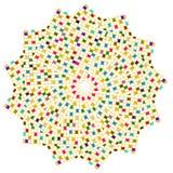 färgrika fyrkanter för cirkel Royaltyfri Fotografi