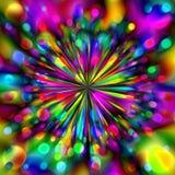 färgrika fyrverkerier Arkivbilder