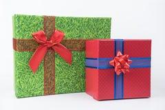 Färgrika gåvapackar, nytt år, dag för valentin` s royaltyfria bilder