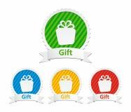 Färgrika gåvasymboler Arkivbild