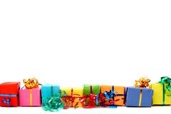 färgrika gåvor Fotografering för Bildbyråer