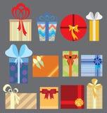 Färgrika gåvor och gåvasymbol Royaltyfri Foto