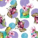 Färgrika gardeniablommor Blom- botanisk blomma Seamless bakgrund mönstrar Arkivfoto