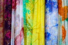 färgrika gardiner Royaltyfri Foto
