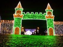 färgrika garneringar för jul Arkivfoton