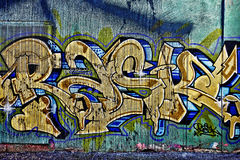 Färgrika gatagrafitti Royaltyfria Foton